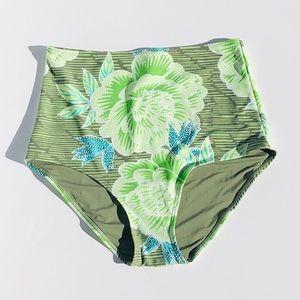 AERIE  High Waisted Cheeky Floral Bikini Bottom